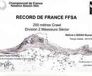 COPO NATATION: Nouveau record de France et champion de France pour Romain IDZIAK à Chambéry en bassin de 50m